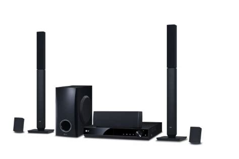 Lg Home Theater 2 Tallboy lg dh4430p 5 1 channel 330 w dvd home cinema system black uk appliances direct