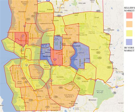 map of seattle area greater seattle area map
