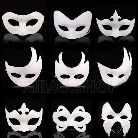 My Mask Plain Mask Type Pink 10pcs lot white unpainted plain blank version paper pulp mask diy masquerade masque free