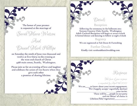 diy wedding invitation template set by thedesignsenchanted