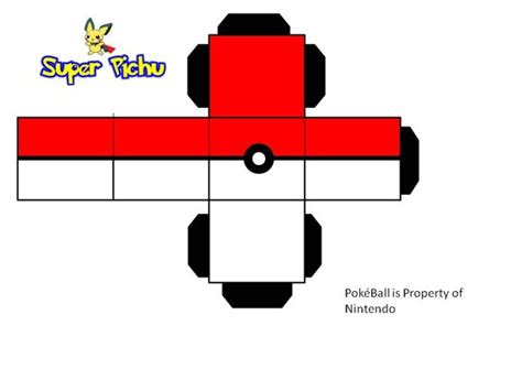Pichu Papercraft - how to make pokeballs