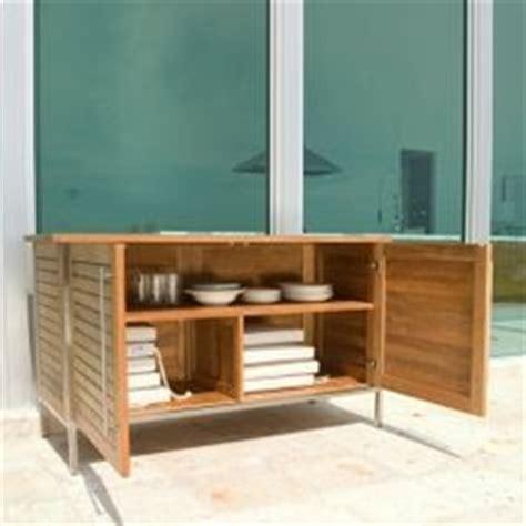 Terrasse Teak by Modernes Garten Sideboard Aus Holz Mit Rollen Modus