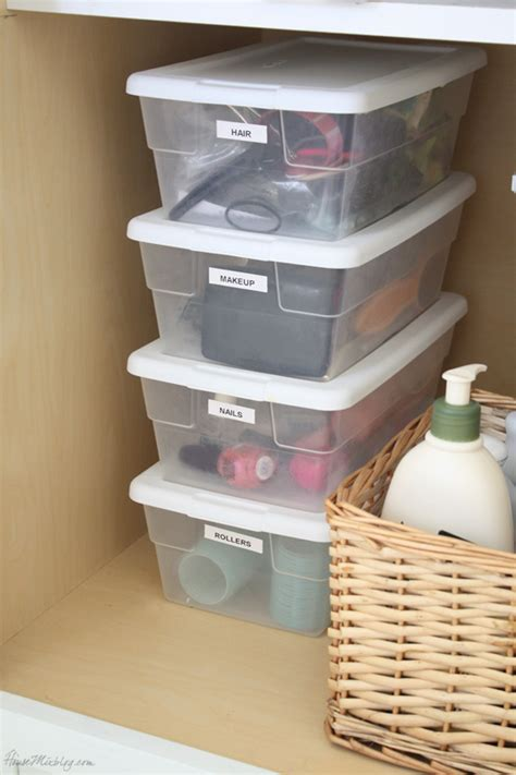Small Bathroom Storage Boxes How To Organize Your Entire House House Mix