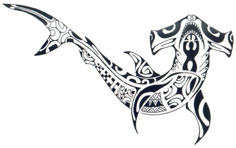 tattoos spot tribal hammerhead shark designs