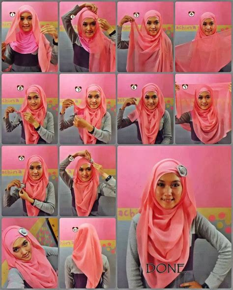 Jilbab Segi 4 Shabbi Segi 4 Flower Jilbab Shabby Chic beautiful tutorial for the hijabiworld