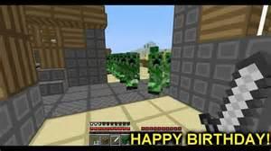 happy birthday tommy minecraft e card youtube
