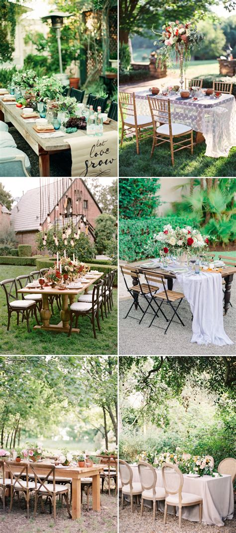 Backyard Wedding Setup Ideas by 20 Sweet Reception Table D 233 Cor Ideas For Small Intimate Weddings Deer Pearl Flowers