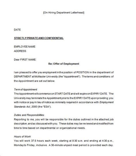 appointment letter format of bpo 31 offer letter templates free word pdf format