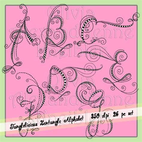 doodle name carlo tanglelicious zentangle alphabet uc dangles