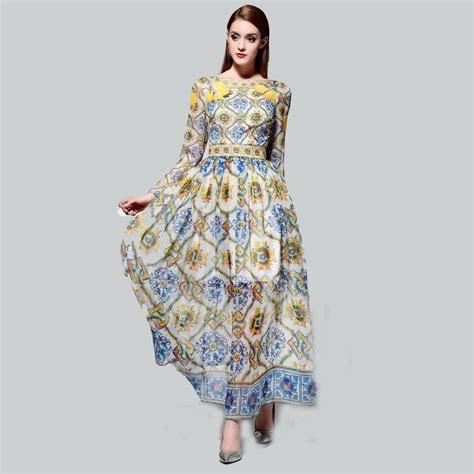 pattern dress long new 2015 summer dress casual women dress half sleeve maxi
