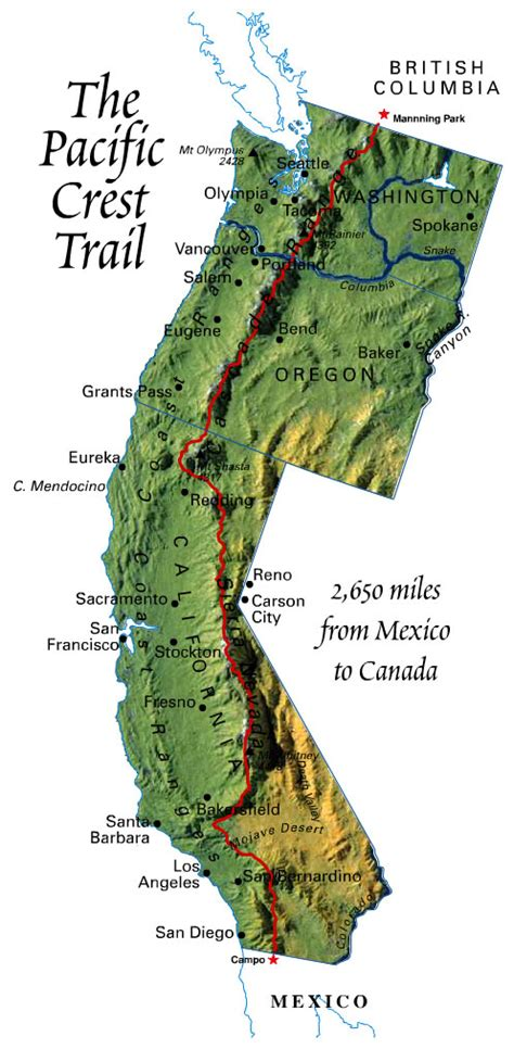 pacific crest trail oregon map ramble on the pct