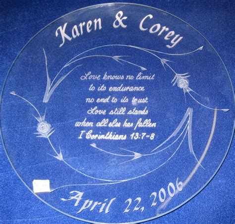 Wedding Anniversary Engraving Ideas by Personalized Engraved Anniversary And Wedding Gift Ideas