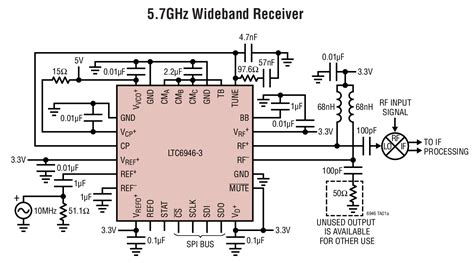 integrated circuit vco ltc6946 ultralow noise and spurious 0 37ghz to 6 39ghz integer n synthesizer with integrated