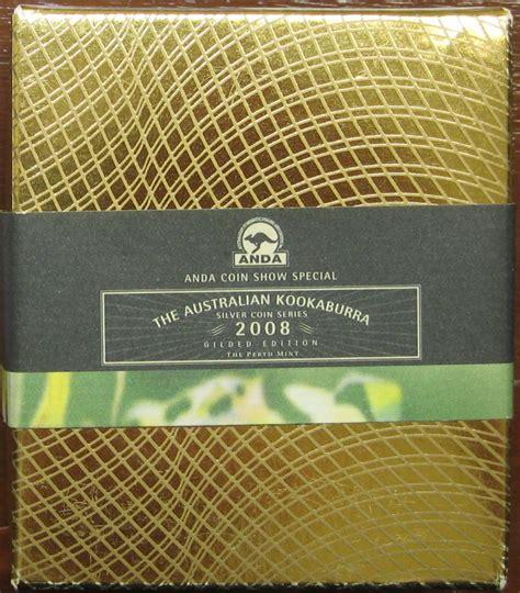 Koin Perak Kookaburra Australia koinkunoantik 2008 australian kookaburra silver gilded edition