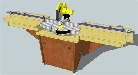 bench chop saw build woodworking plans miter saw stand diy plans for wood