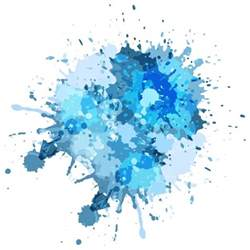 water color splash blue watercolor splash background vector free