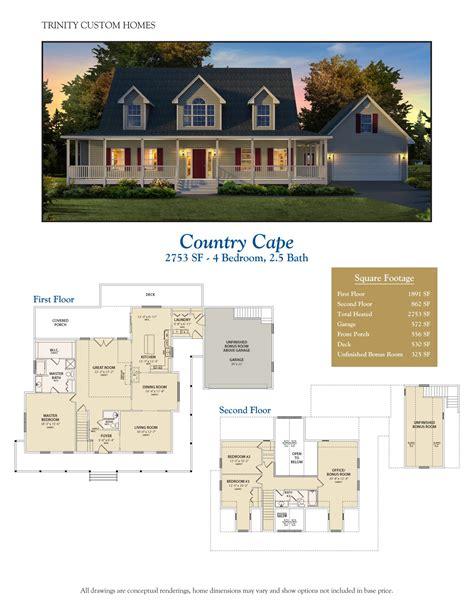 trinity custom homes floor plans floor plans trinity custom homes georgia