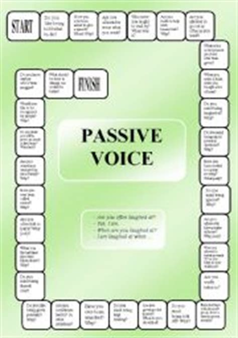 let s teach english passive voice board game passive voice boardgame editable
