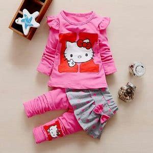 Celana Kaos Anak Perempuan setelan baju kaos lengan panjang celana panjang anak perempuan