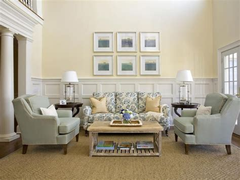 wainscoting in living room traditional living room with cream walls wainscot panels