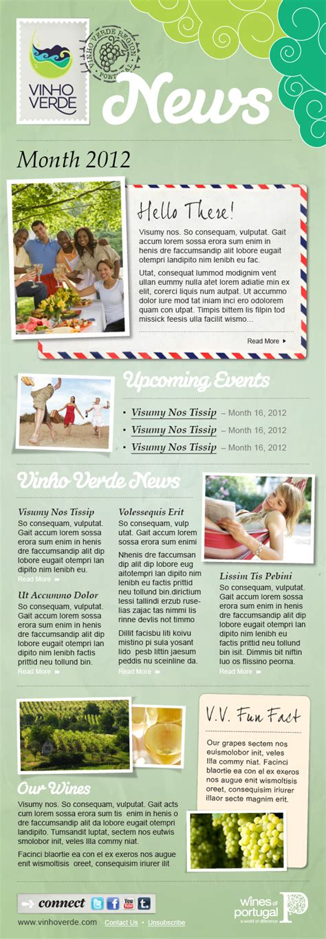 best mailchimp newsletter templates vinho verde mailchimp newsletter template