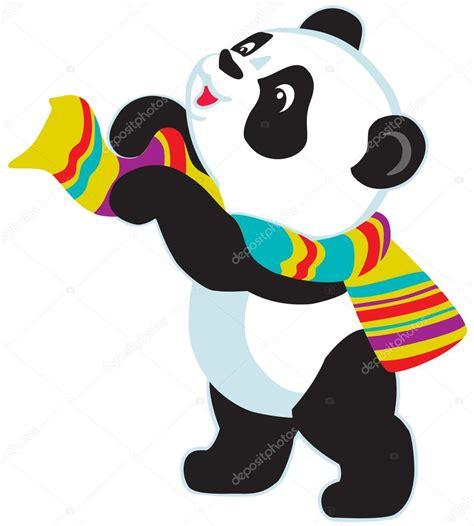 Imagenes Libres Para Usar | usar bufanda de dibujos animados panda vector de stock