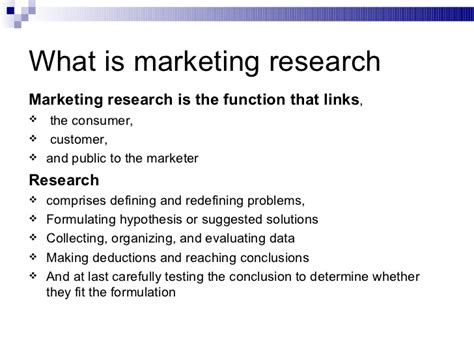 nature scope of marketing research