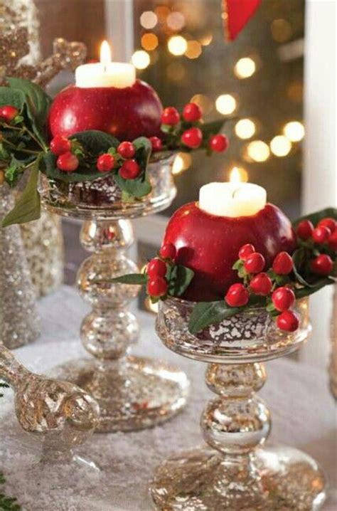 apple candle holders idea christmas pinterest