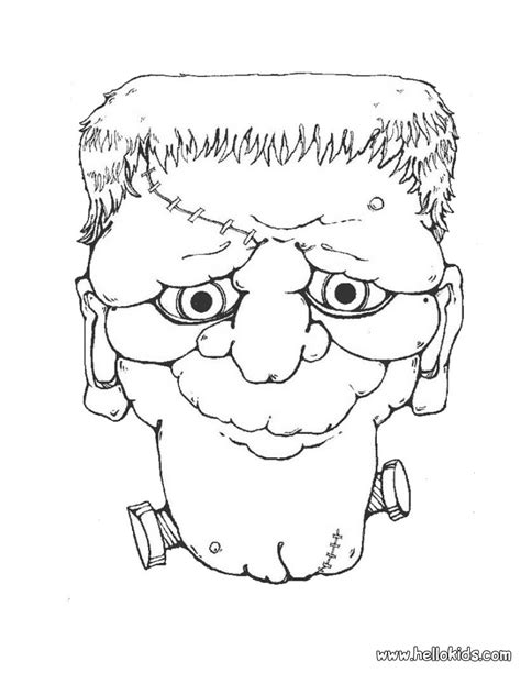 frankenstein head coloring pages hellokids com