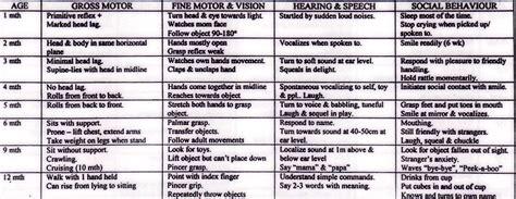 motor skills 12 months developmental milestones 1 month to 12 months