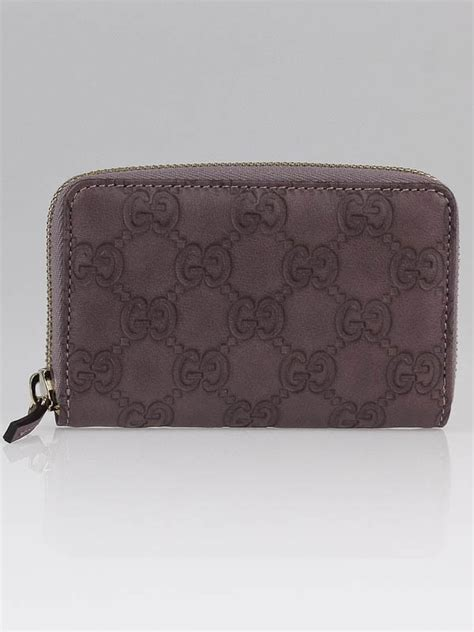 Violet Gucci Coin Purse Is It by Gucci Light Purple Guccissima Leather Zip Around Coin