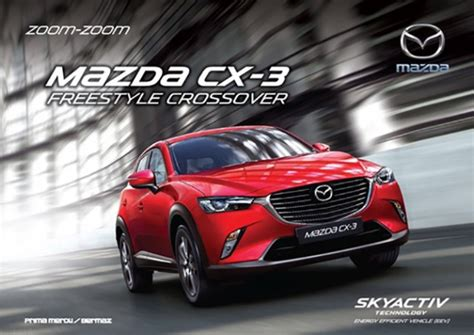 Mazda CX 3 Malaysian brochure, spec sheet leaked