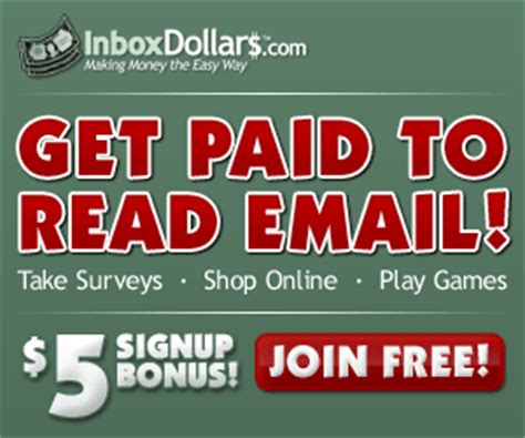 Get Paid To Read Emails - inbox dollars get paid to read emails take surveys search the web and more money
