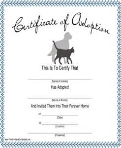 blank adoption certificate template certificate template 7 free pdf documents