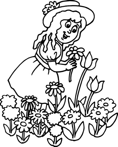 free coloring pages of summer flowers nature coloring pages flowers coloring pages