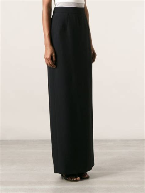 mcqueen maxi pencil skirt in black lyst