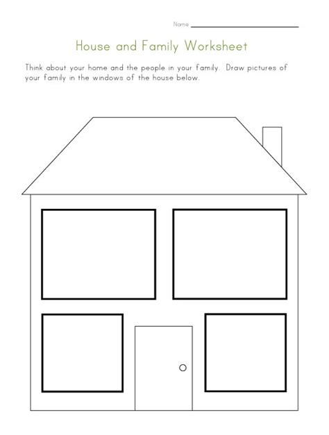 home design worksheet house and family worksheet