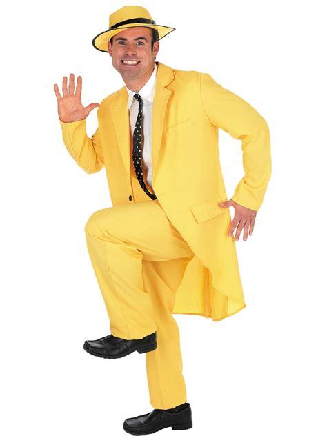 90s fancy dress costumes men adult yellow suit the mask costume fs2783 fancy