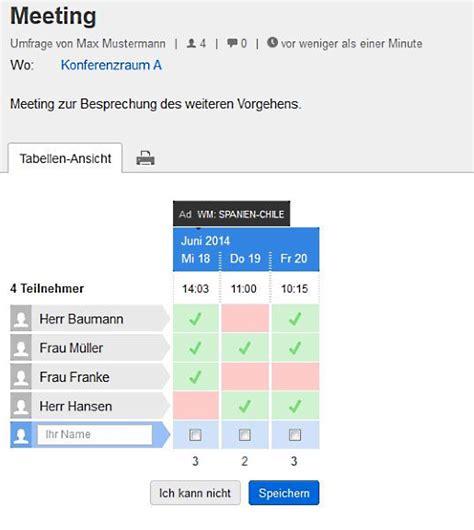 doodle erstellen das doodle umfrage tool schnell und unkompliziert