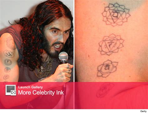 russell brand tattoos guess who s got an armful of new tattoos toofab