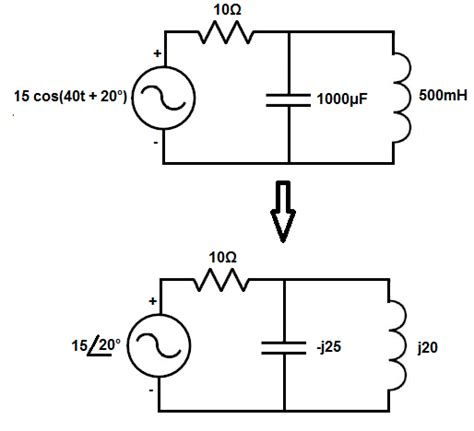convert capacitor to phasor convert capacitor to frequency domain 28 images a convert the phasor voltage v 15 convert