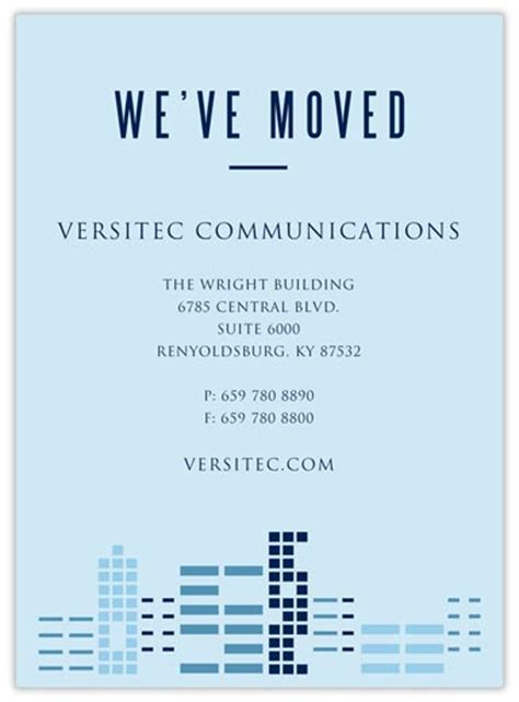 business moving announcement template 2 blues moving announcement moving announcements from