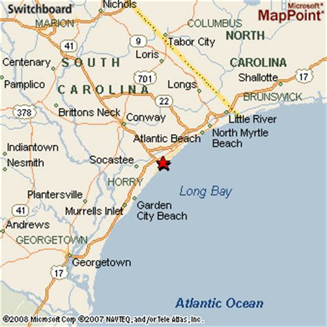 and south carolina beaches map myrtle south carolina