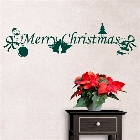 Christmas Wall Art Stickers merry christmas wall sticker wall art com