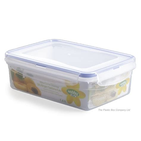 buy 1 4lt hobbylife plastic storage box with clip on lid