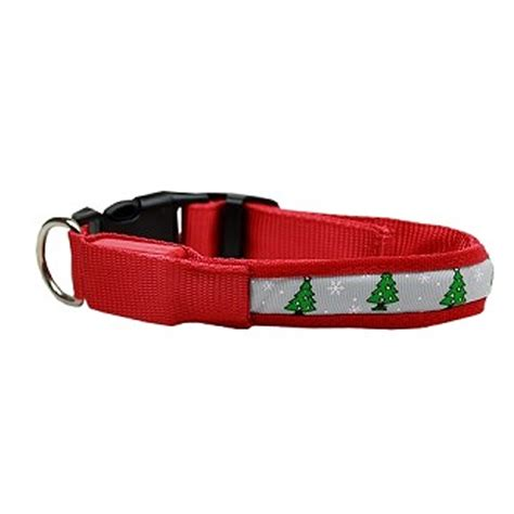 led christmas tree dog collar baxterboo
