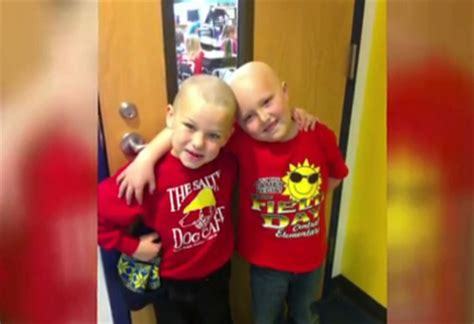 this first grader shaved his head so his best friend with