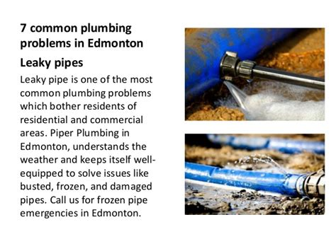 7 common plumbing problems in edmonton
