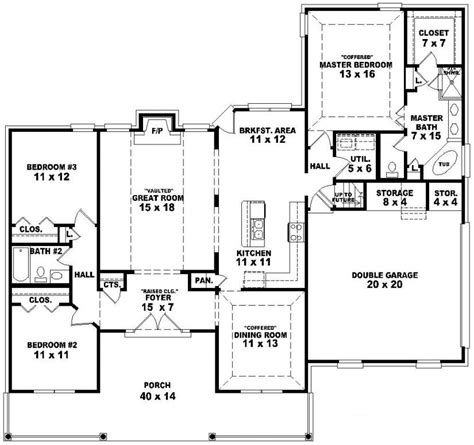 Baby Nursery Walk Out Ranch House Plans One And A Half | baby nursery walk out ranch house plans one and a half