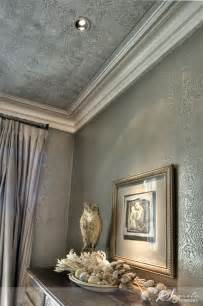 wallpaper to the curtains. Gray on gray creates a refined look in this